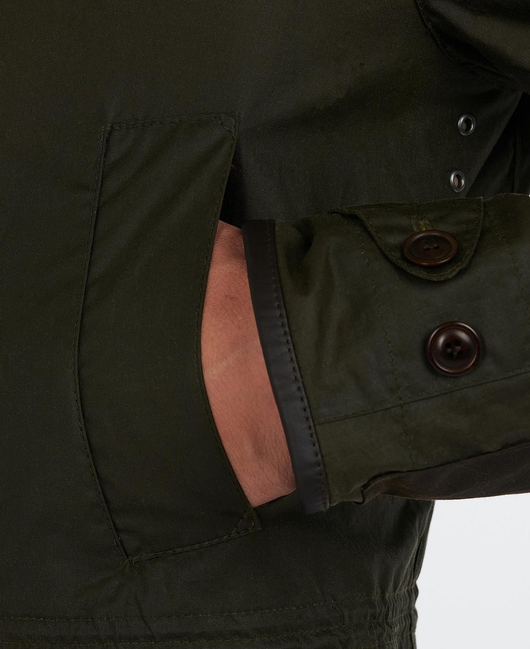 Barbour Oakby Wax Olive-9