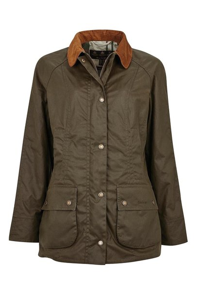Barbour Aintree Wax Archive Olive-Pink Olive Tartan