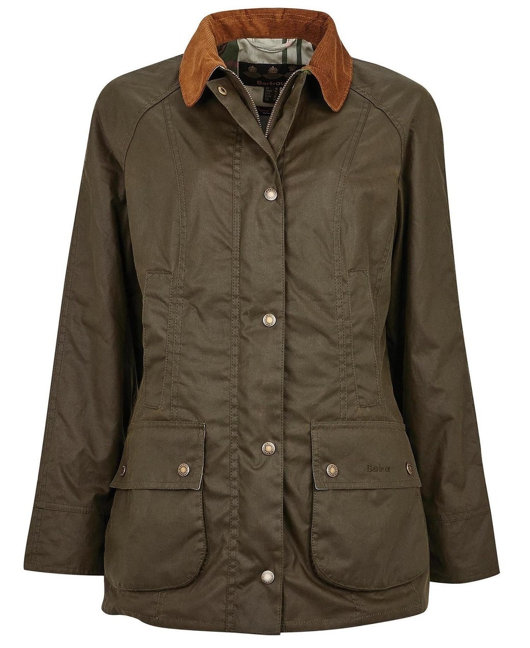 Barbour Aintree Wax Archive Olive-Pink Olive Tartan-1