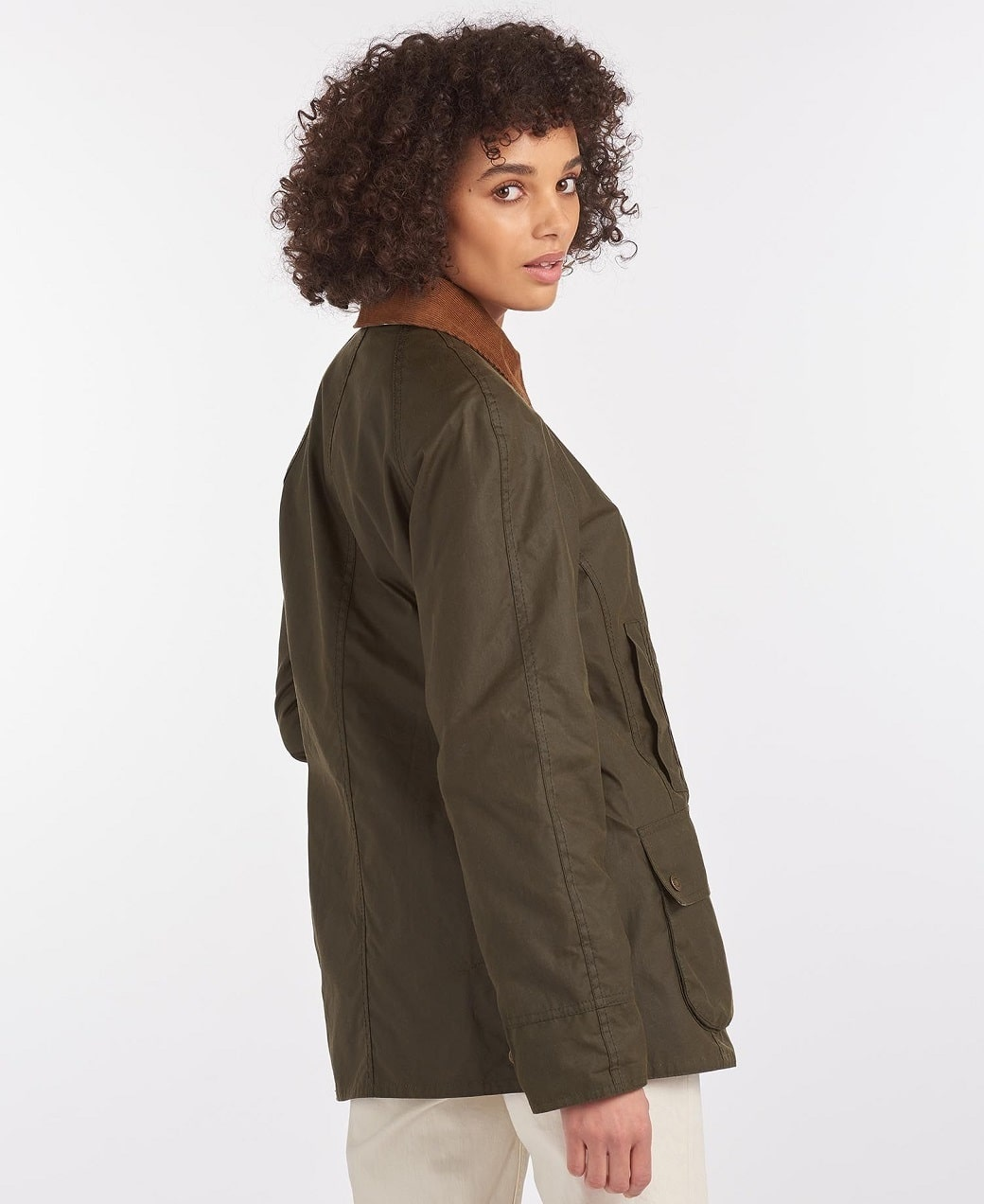 Barbour Aintree Wax Archive Olive-Pink Olive Tartan-4