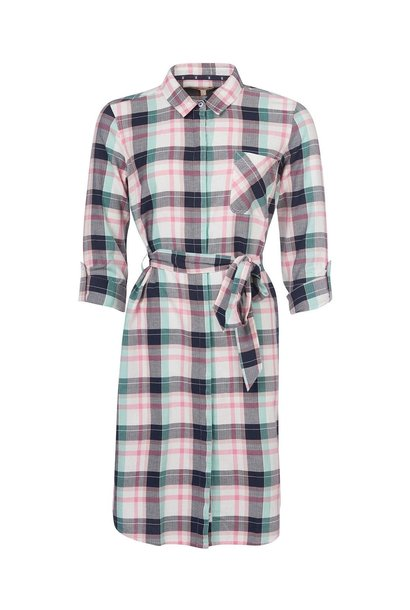 Barbour Padstow Dress Cloud Check