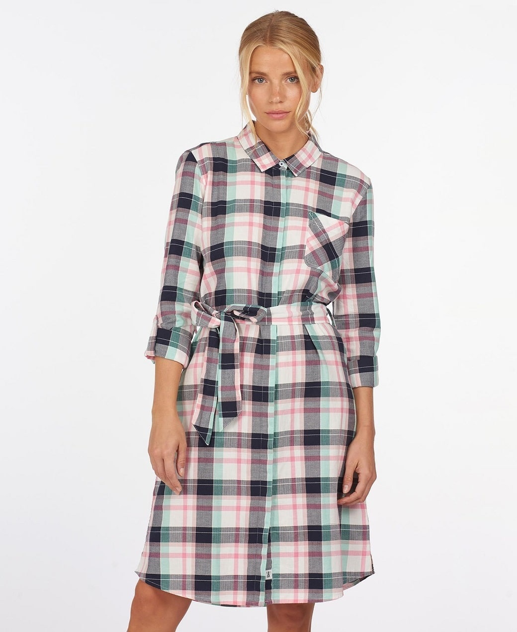 Barbour Padstow Dress Cloud Check-2