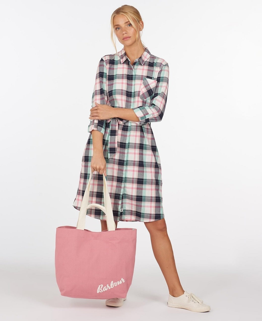 Barbour Padstow Dress Cloud Check-3