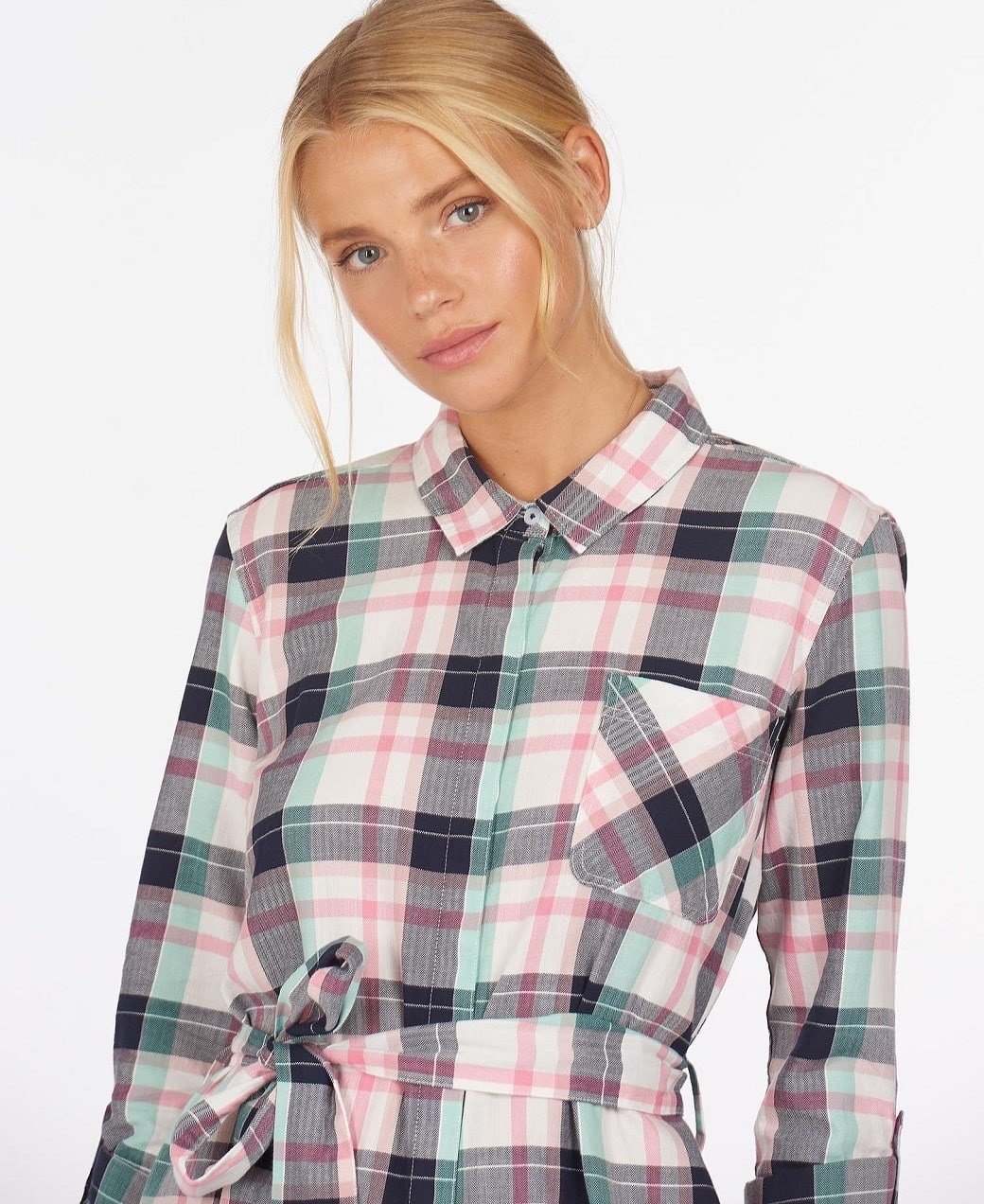 Barbour Padstow Dress Cloud Check-5