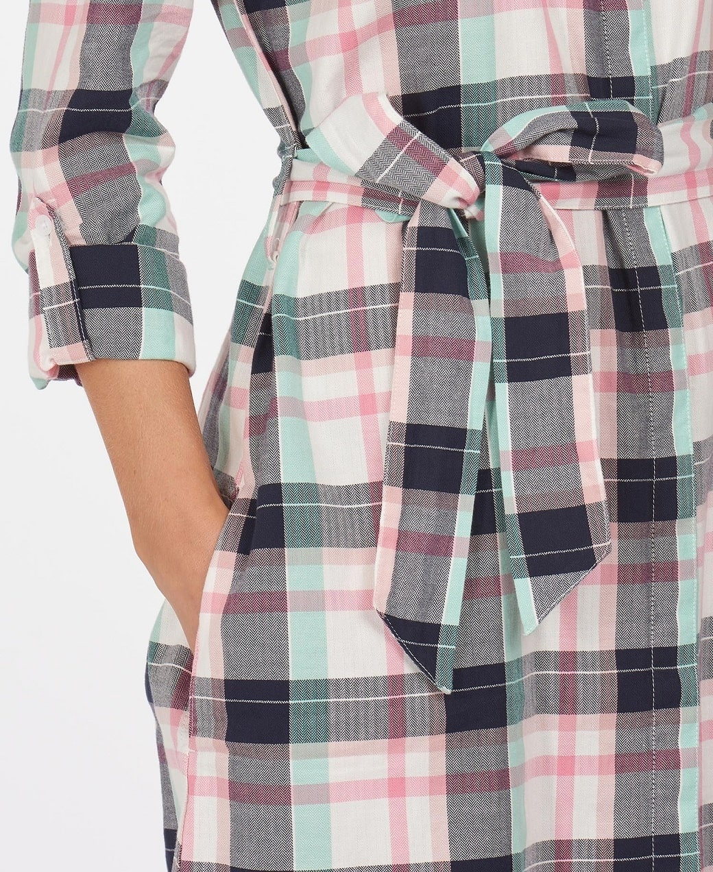 Barbour Padstow Dress Cloud Check-6