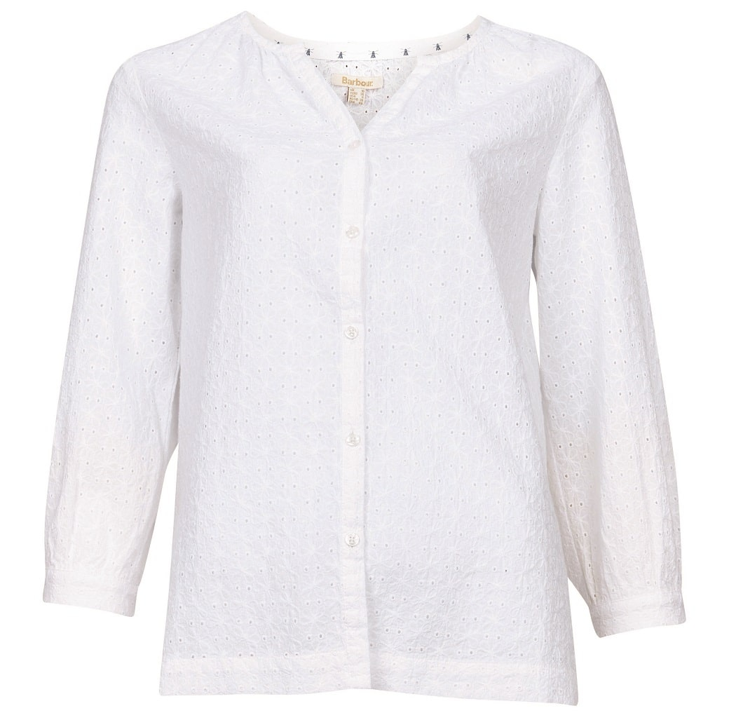 Barbour Folkestone Shirt White-1