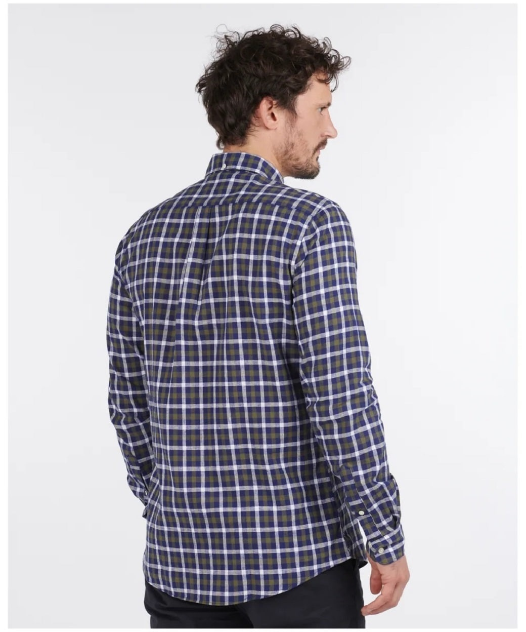 Barbour Linen Mix 3 Tailored Inky Blue-2