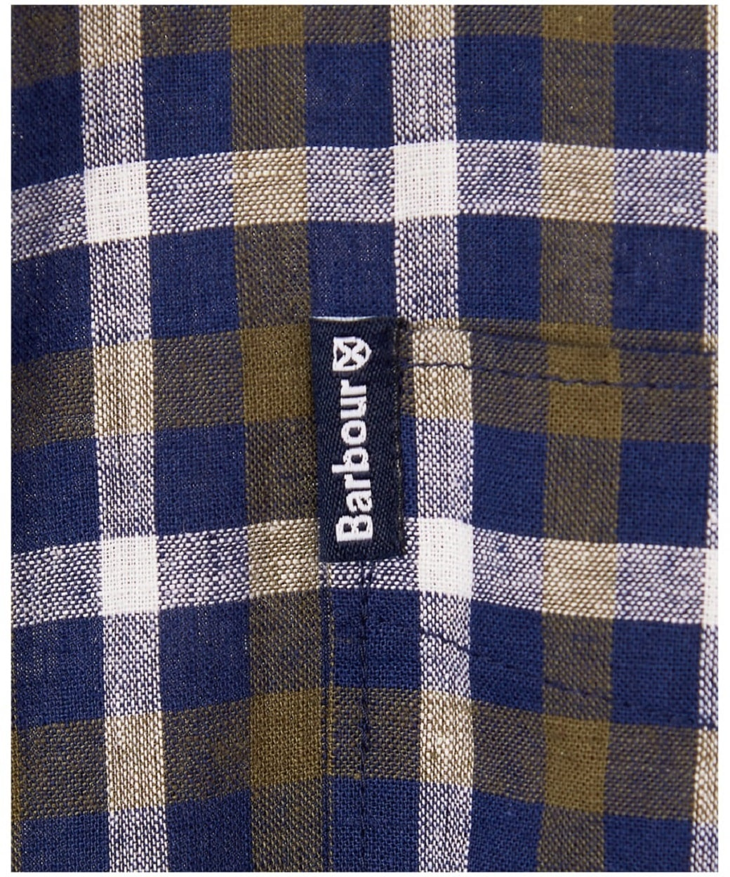 Barbour Linen Mix 3 Tailored Inky Blue-4