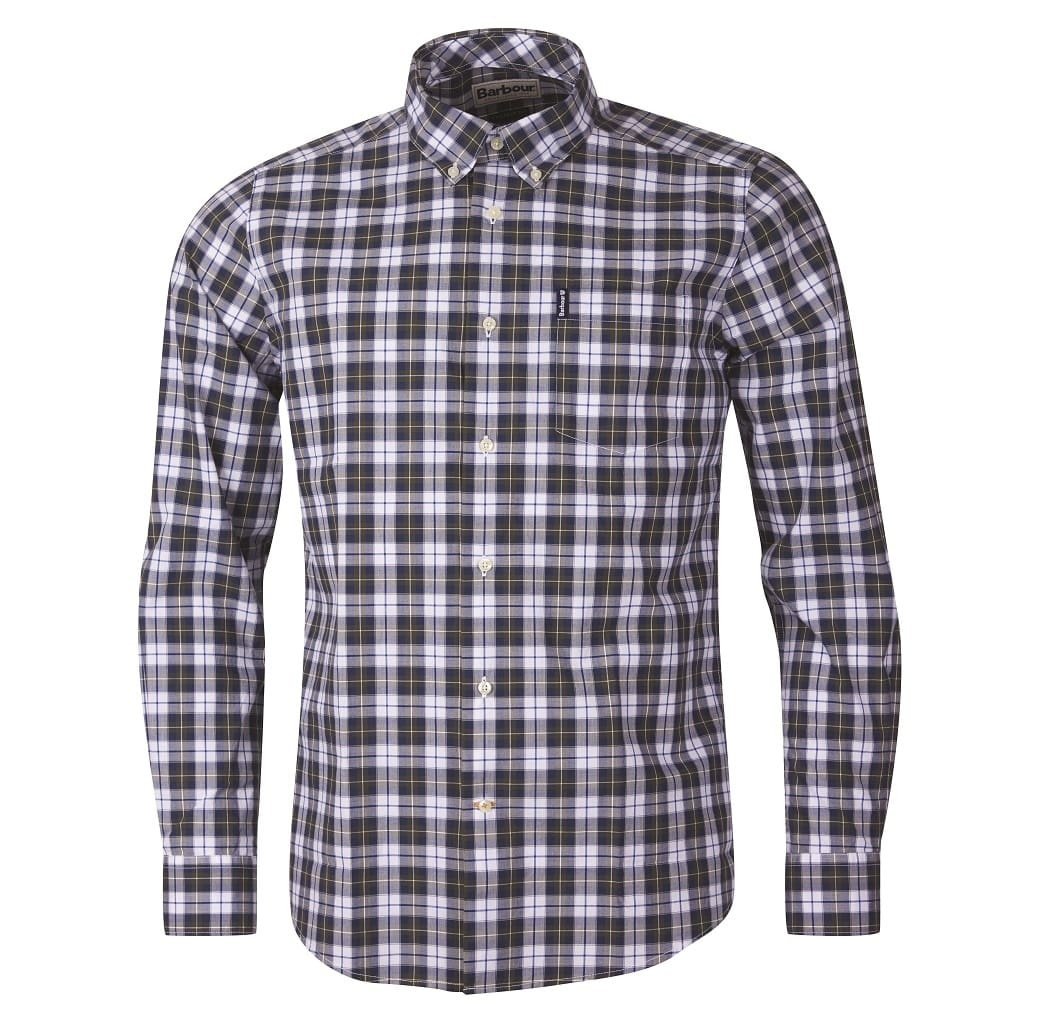Barbour Highland Check 28 Tailored Olive-1