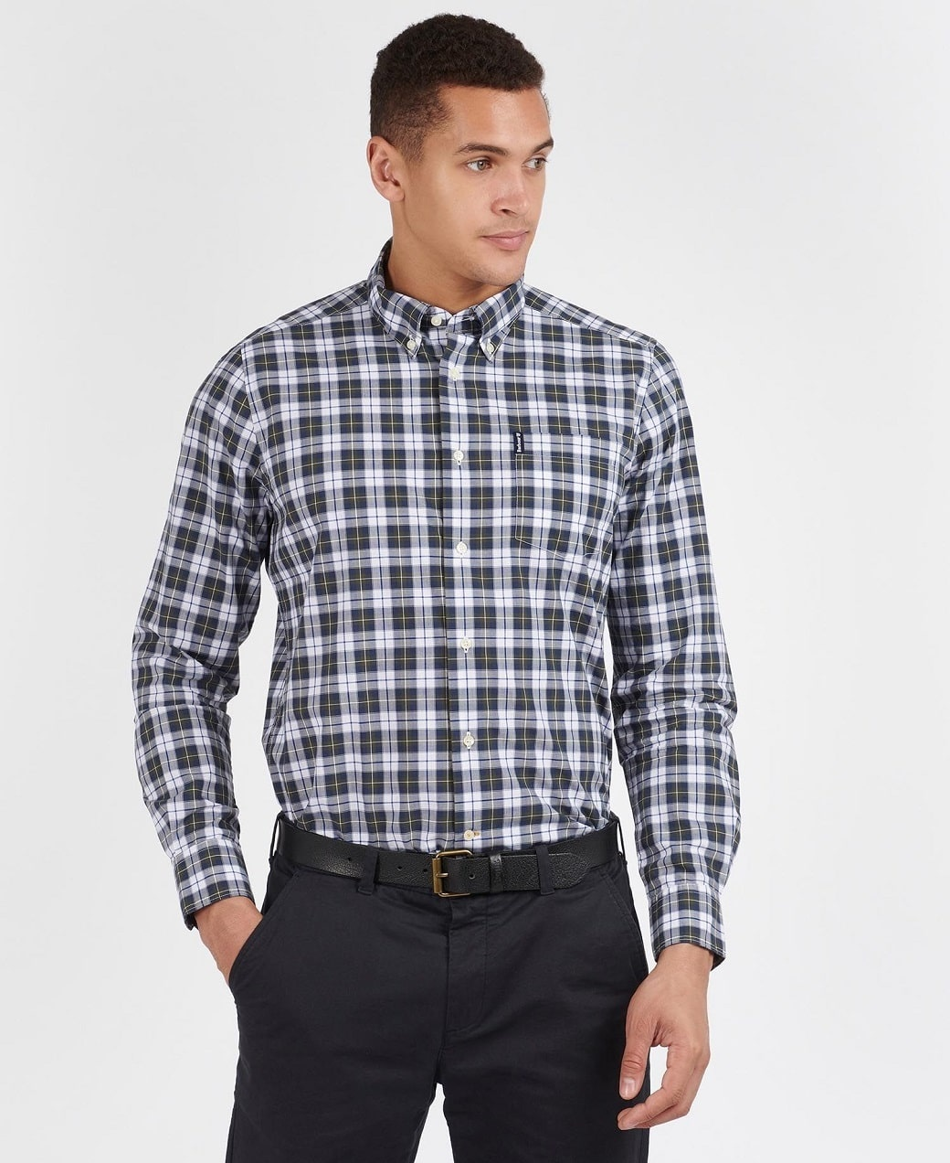 Barbour Highland Check 28 Tailored Olive-2