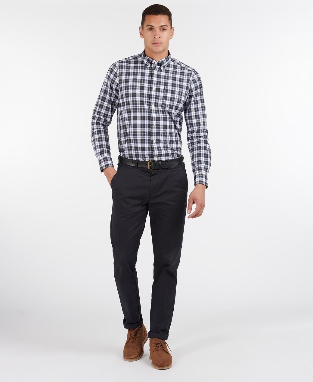 Barbour Highland Check 28 Tailored Olive-6