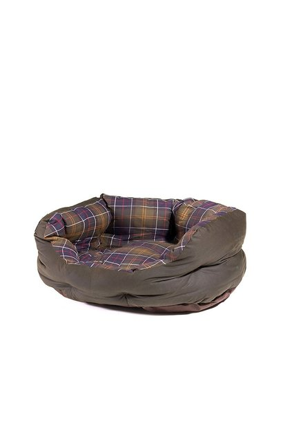 Barbour Wax/Cotton Dog Bed 24IN  Classic/Olive