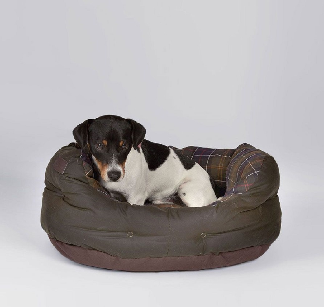 Barbour Wax/Cotton Dog Bed 24IN  Classic/Olive-2