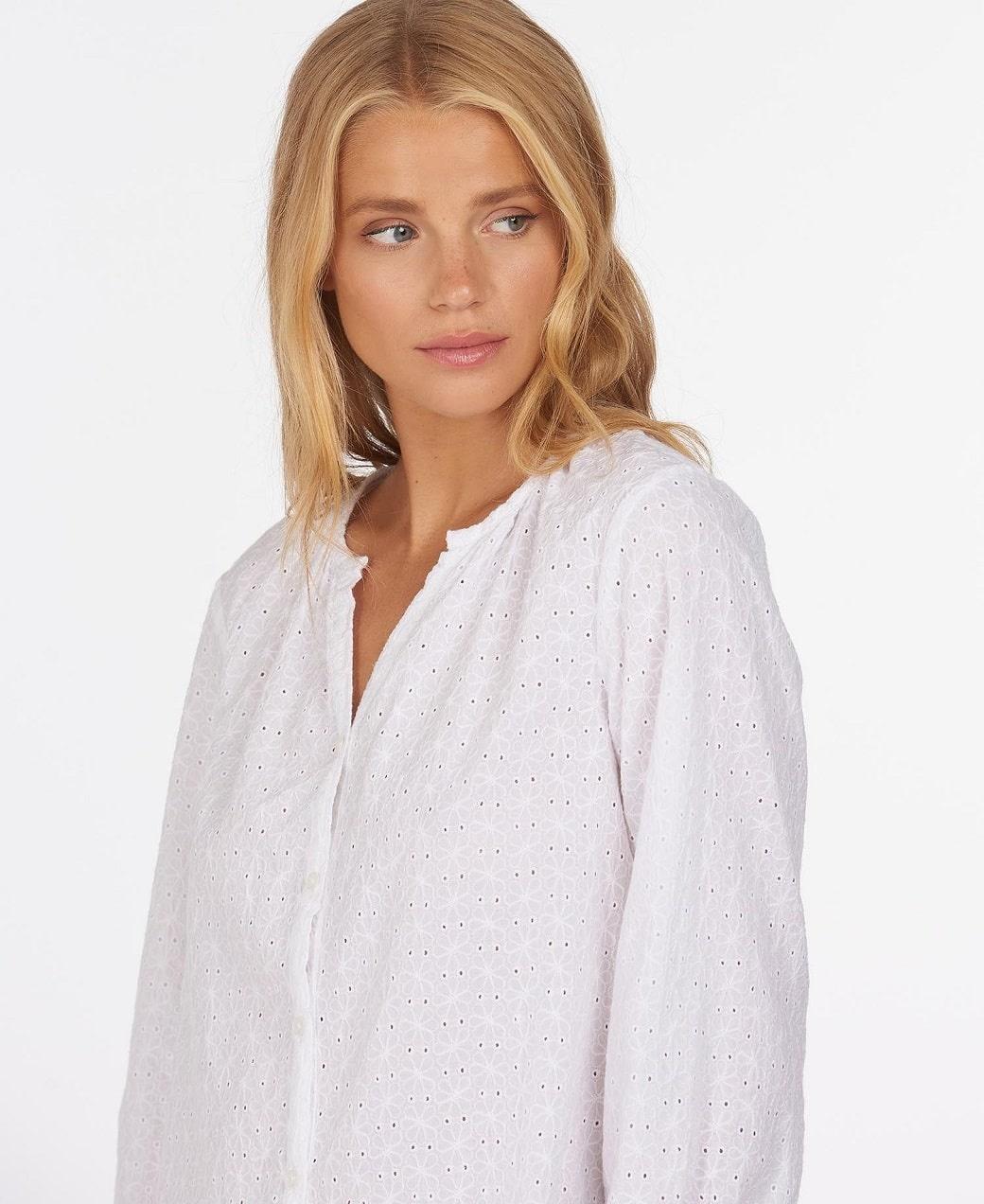Barbour Folkestone Shirt White-2