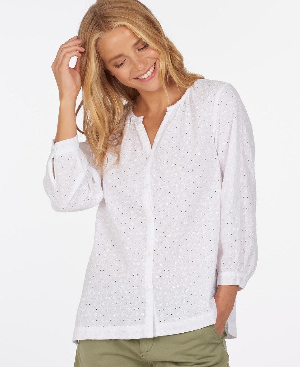 Barbour Folkestone Shirt White-3