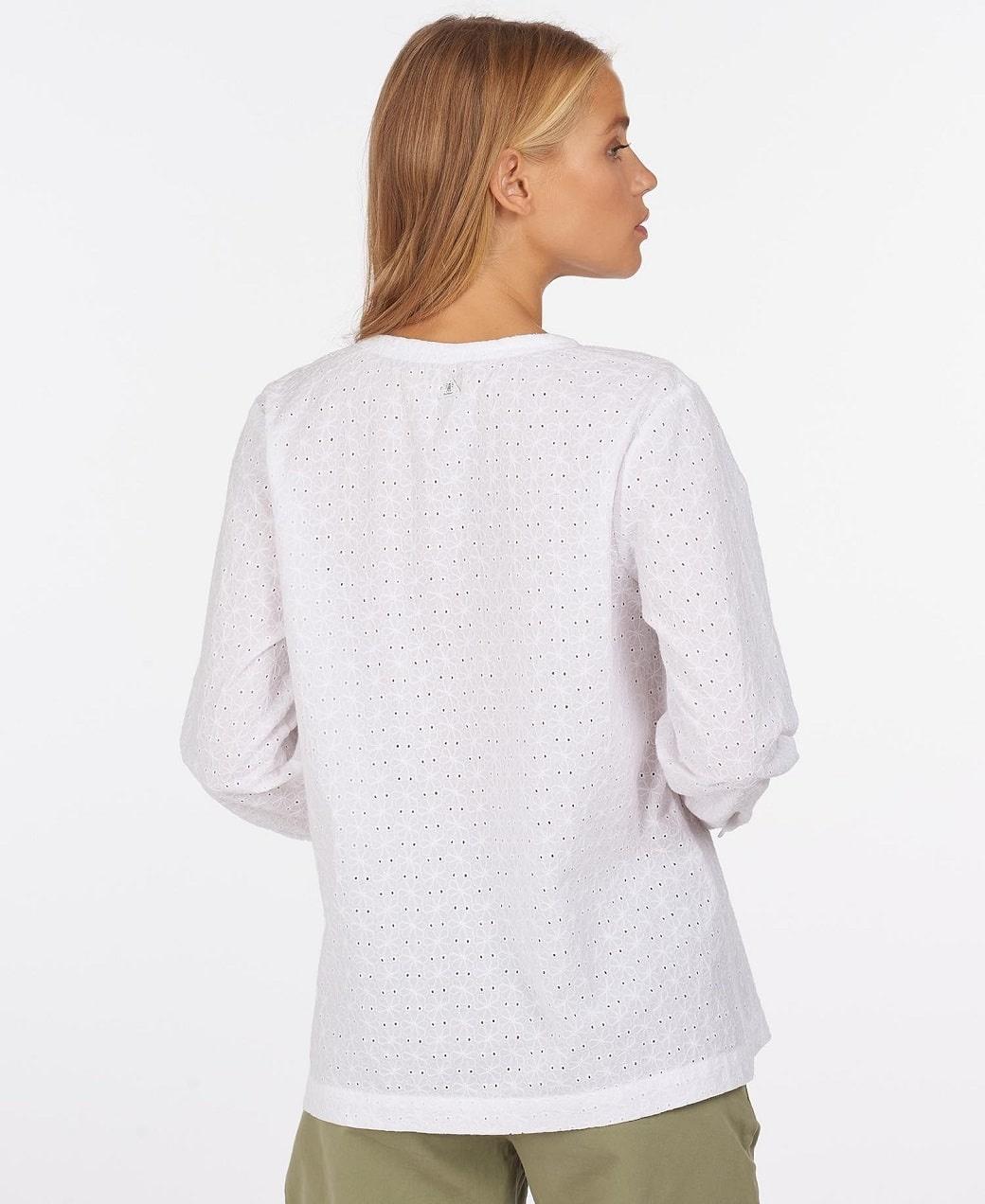 Barbour Folkestone Shirt White-4
