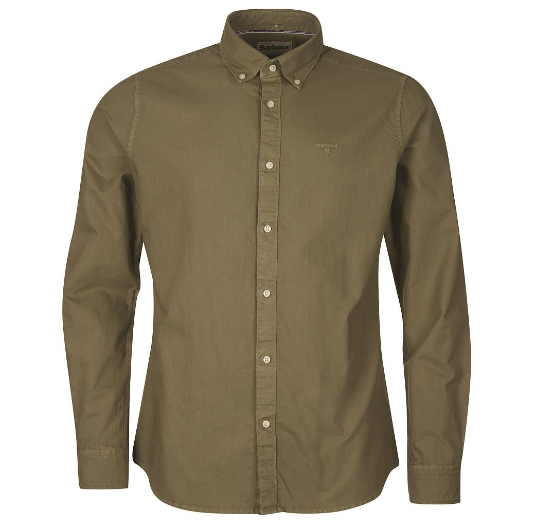 Barbour Oxford 13 Tailored Shirt Olive-1