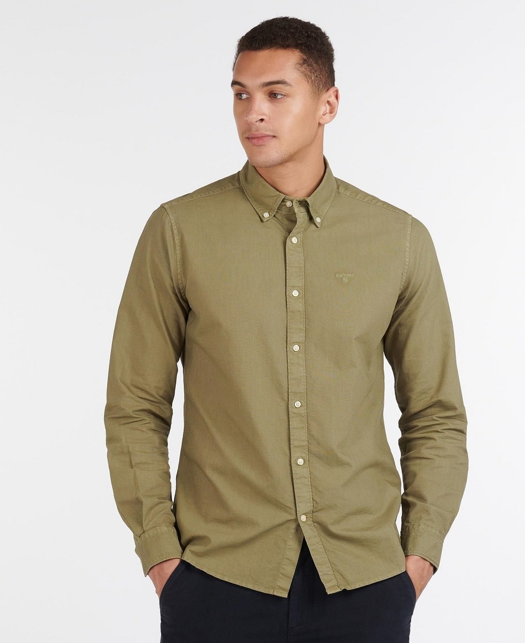 Barbour Oxford 13 Tailored Shirt Olive-2