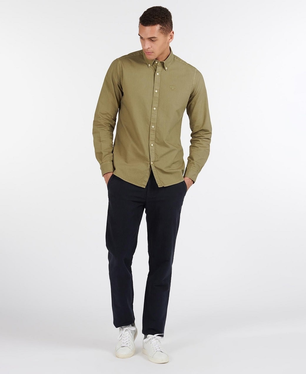 Barbour Oxford 13 Tailored Shirt Olive-3