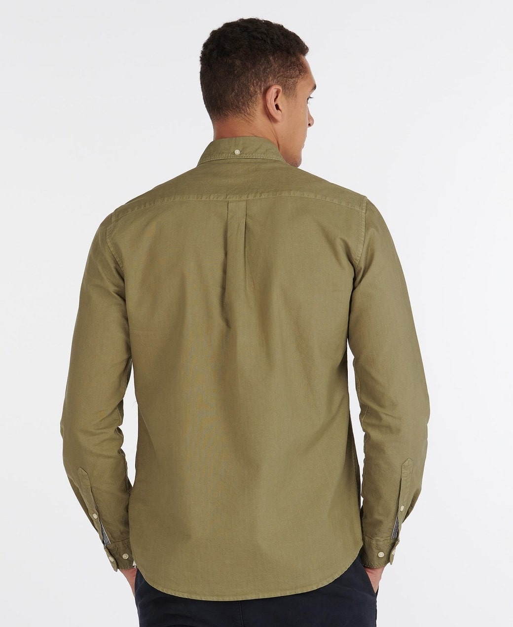 Barbour Oxford 13 Tailored Shirt Olive-4