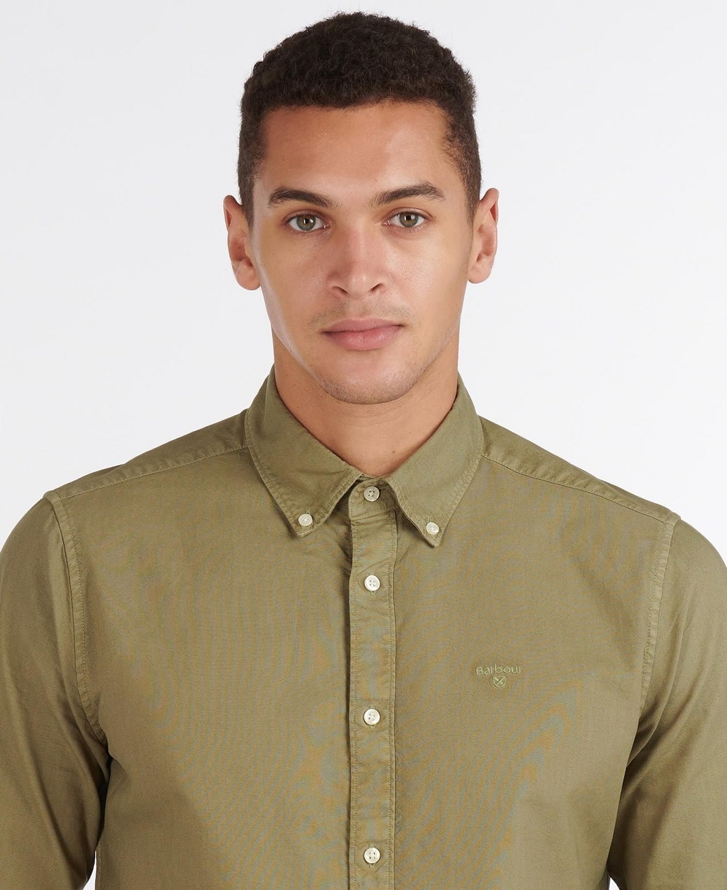 Barbour Oxford 13 Tailored Shirt Olive-5
