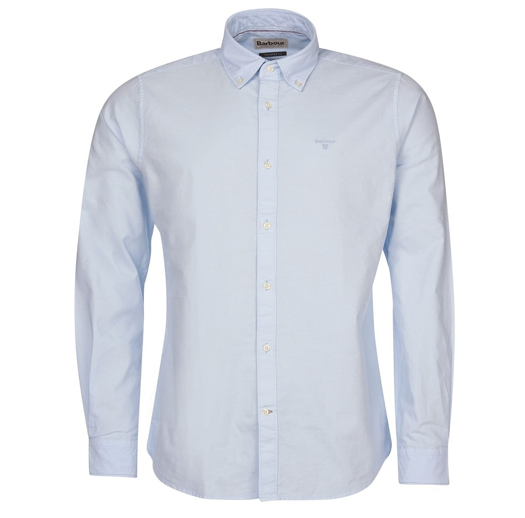 Barbour Oxford 13 Tailored Shirt Sky Blue-1