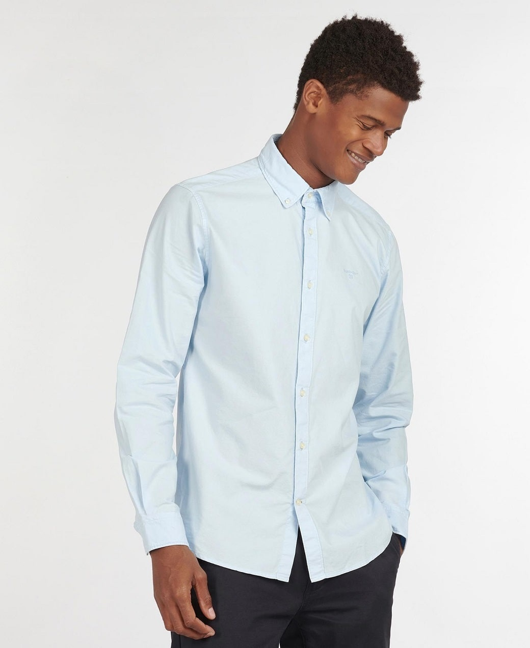 Barbour Oxford 13 Tailored Shirt Sky Blue-2