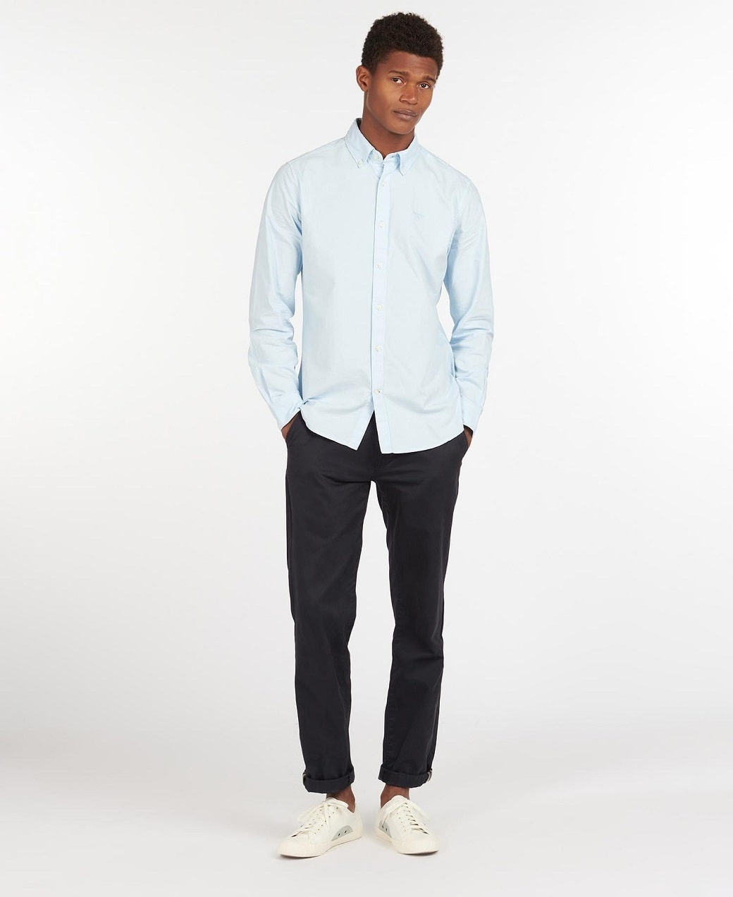 Barbour Oxford 13 Tailored Shirt Sky Blue-3