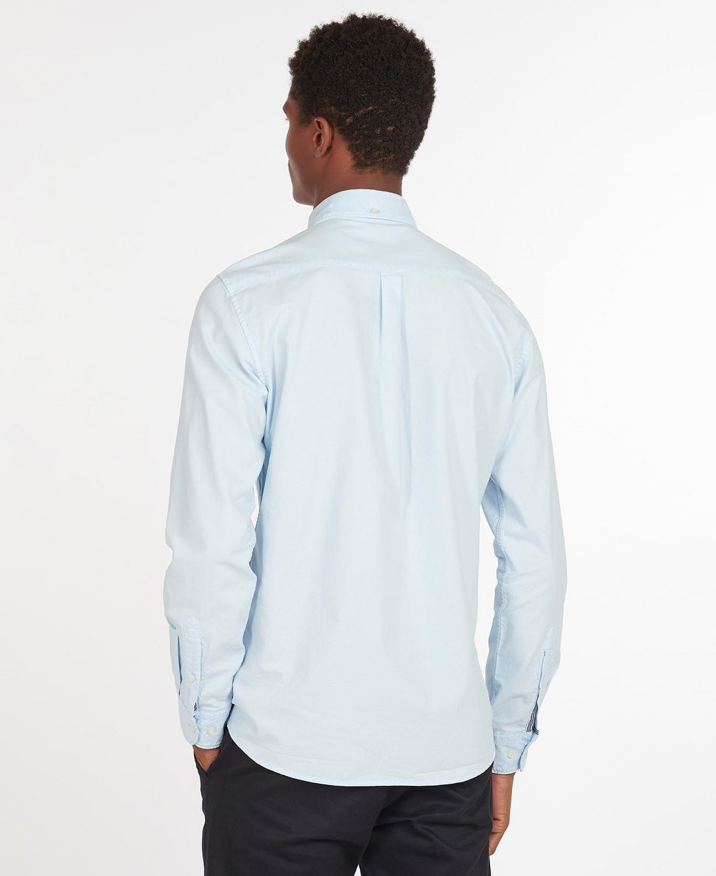 Barbour Oxford 13 Tailored Shirt Sky Blue-4