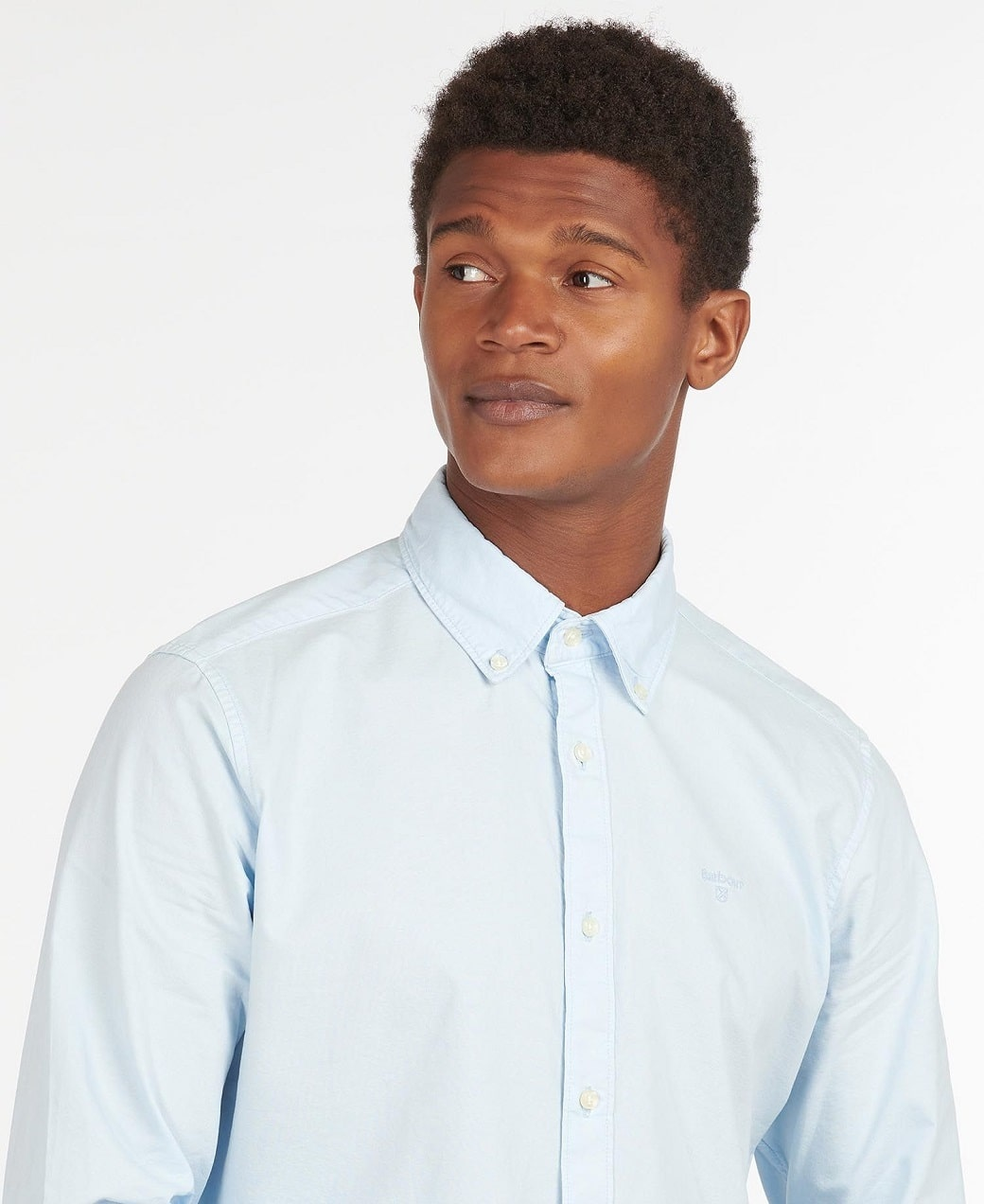 Barbour Oxford 13 Tailored Shirt Sky Blue-5