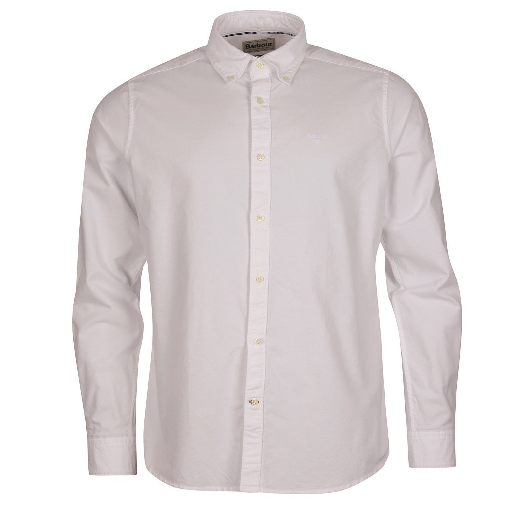 Barbour Oxford 13 Tailored Shirt White-1