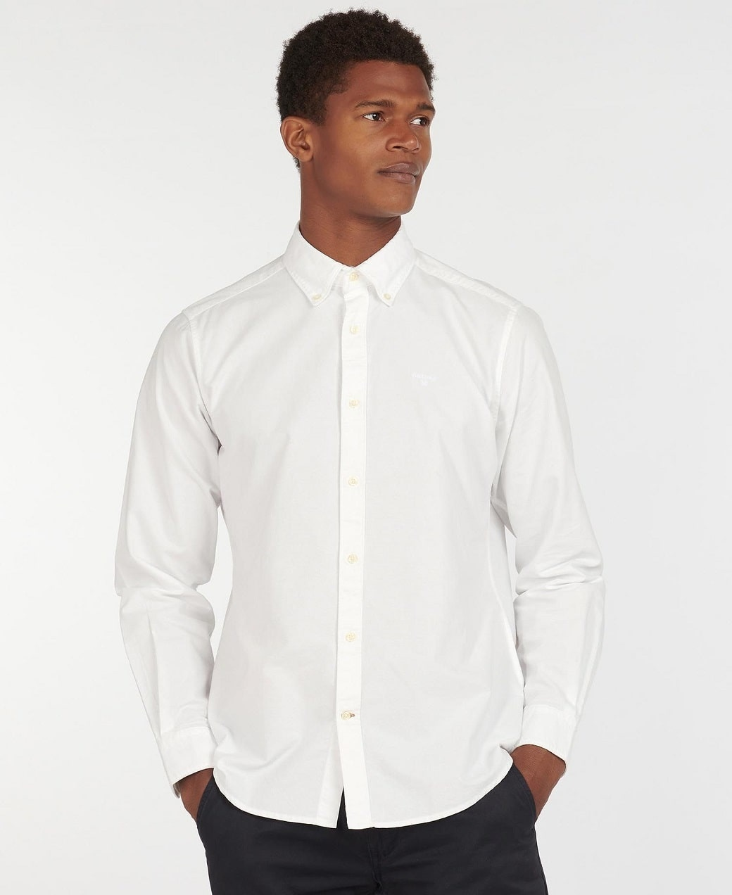 Barbour Oxford 13 Tailored Shirt White-2