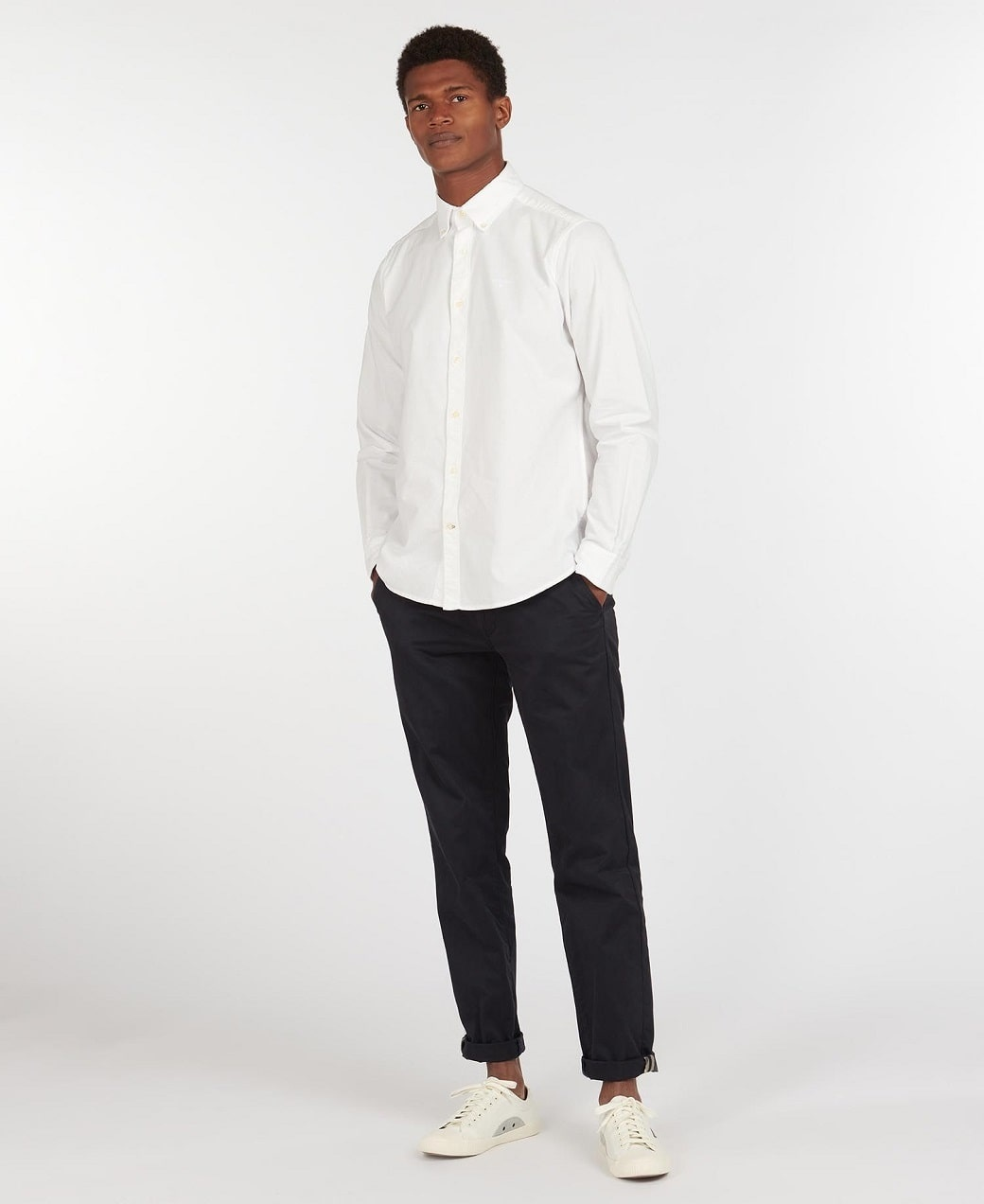 Barbour Oxford 13 Tailored Shirt White-3