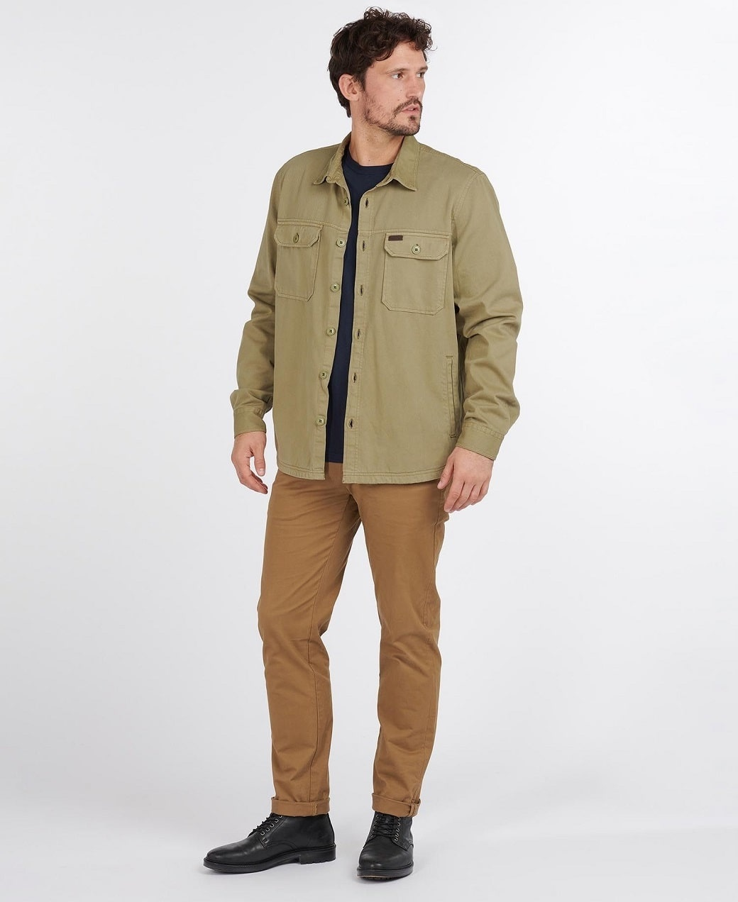 Barbour Rydale Overshirt Olive-3