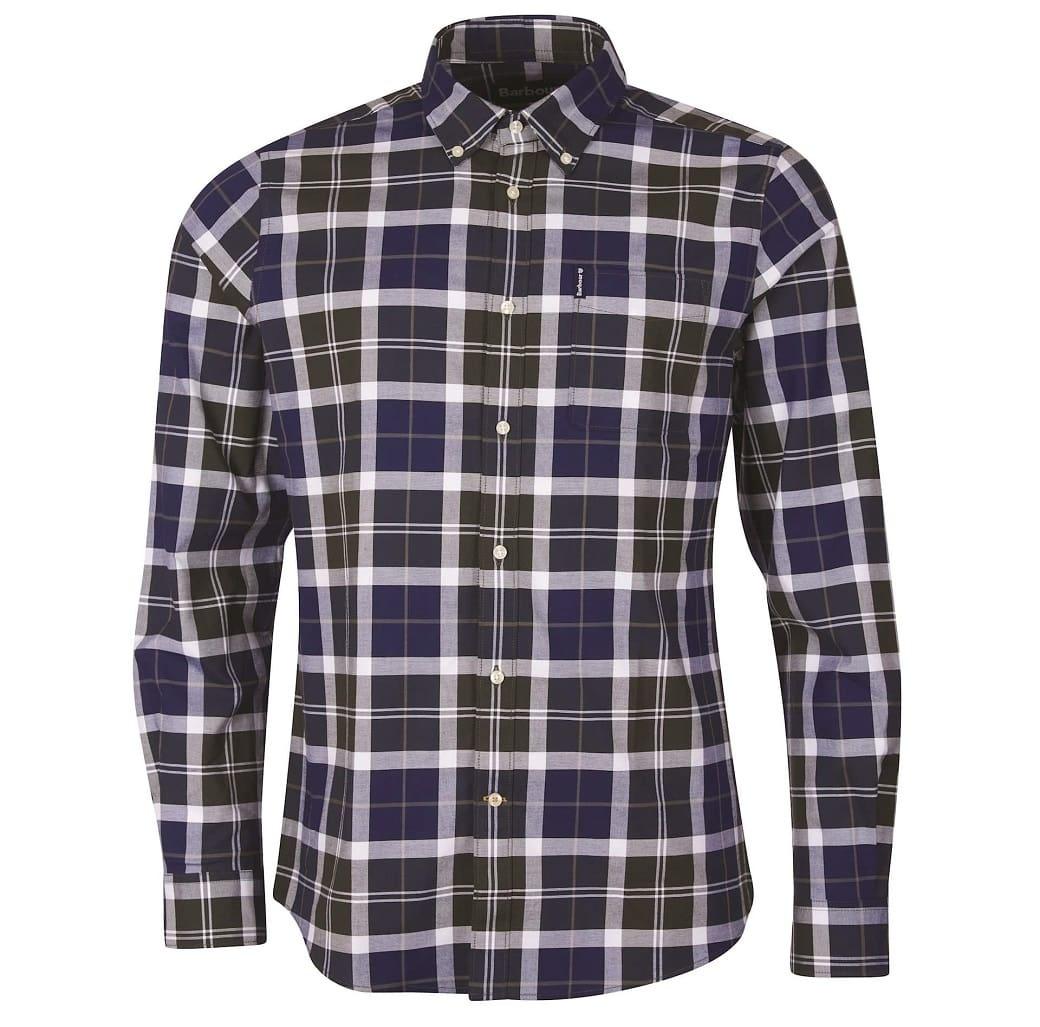 Barbour Tartan 11 Tailored Shirt  Sage-1