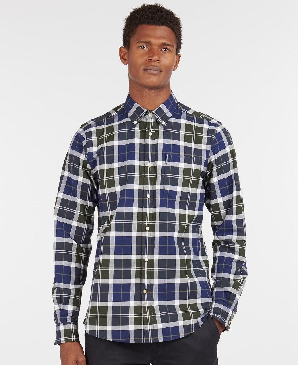 Barbour Tartan 11 Tailored Shirt  Sage-2