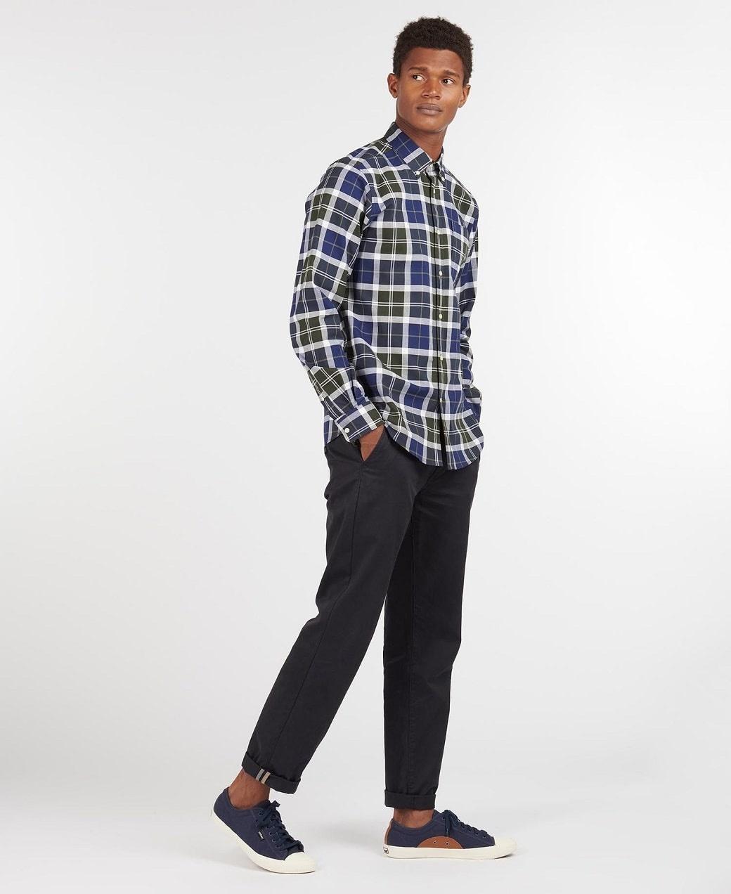Barbour Tartan 11 Tailored Shirt  Sage-3