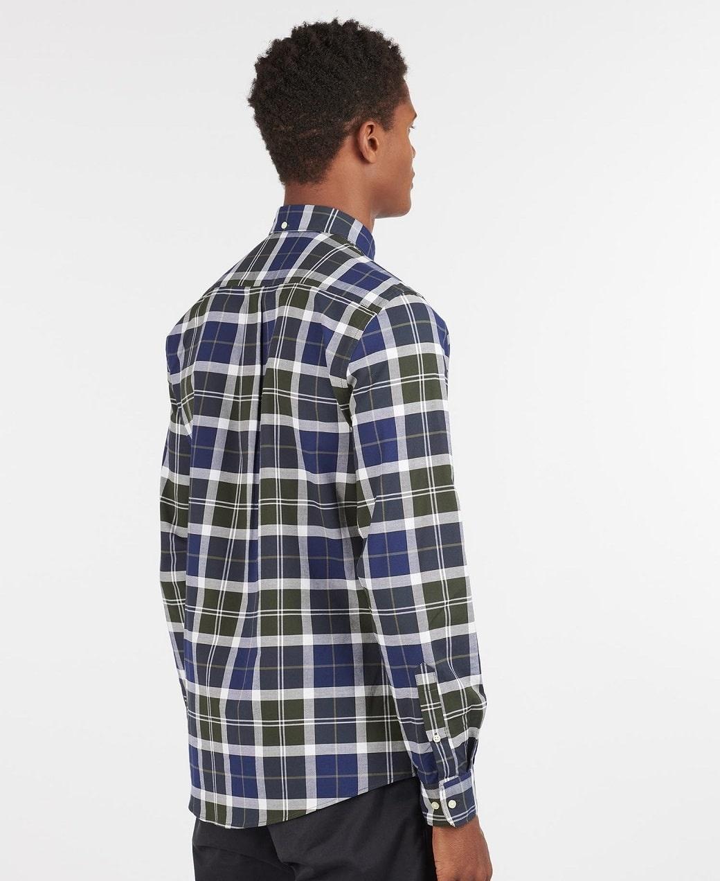 Barbour Tartan 11 Tailored Shirt  Sage-4