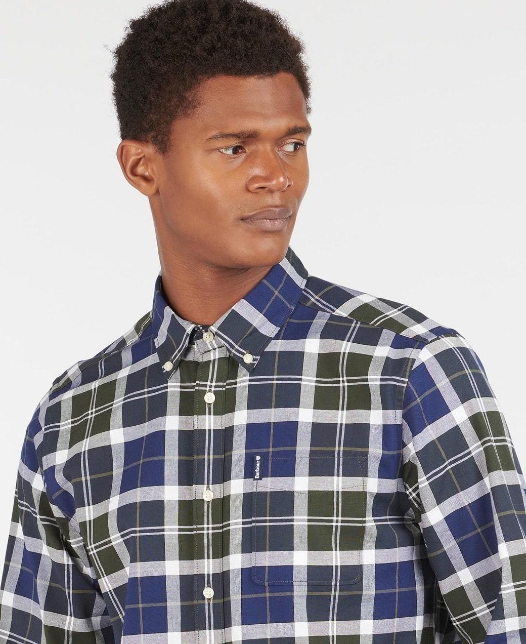 Barbour Tartan 11 Tailored Shirt  Sage-5
