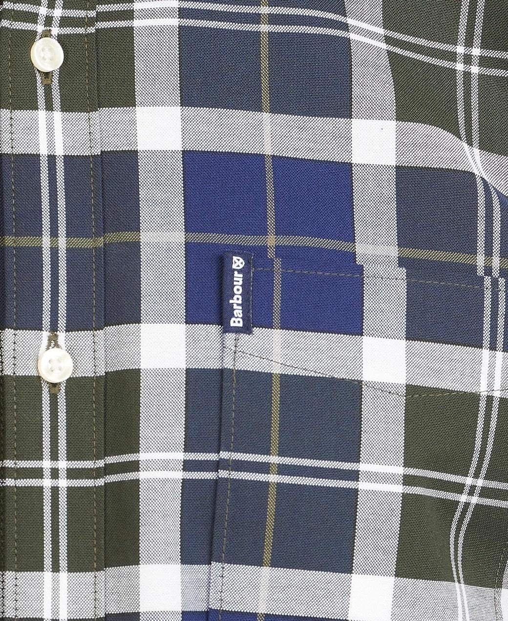 Barbour Tartan 11 Tailored Shirt  Sage-6