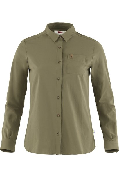 Fjällräven Övik Lite Shirt LS W Green