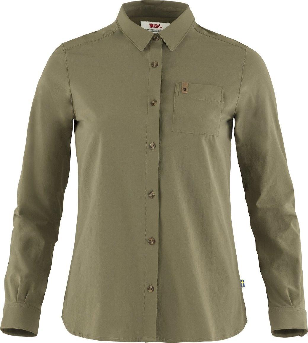 Fjällräven Övik Lite Shirt LS W Green-1