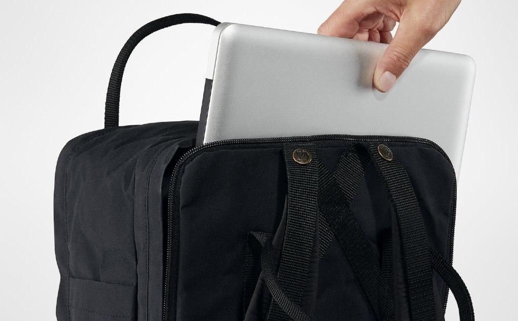 """Fjällräven Kånken Laptop 15"""" Black-7"""