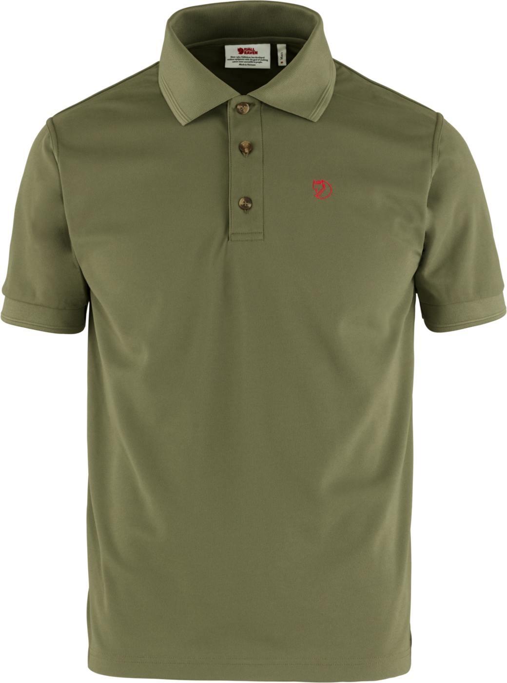 Fjällräven Crowley Pique Shirt M Light Olive-1