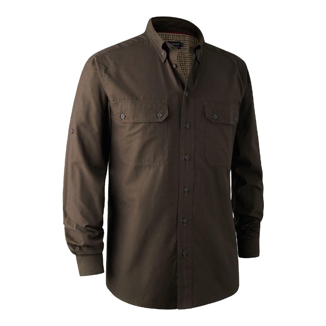 Deerhunter Reyburn Bamboo Shirt Space Green-1