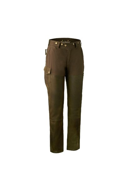 Deerhunter Lady Paris Leather Trousers Walnut