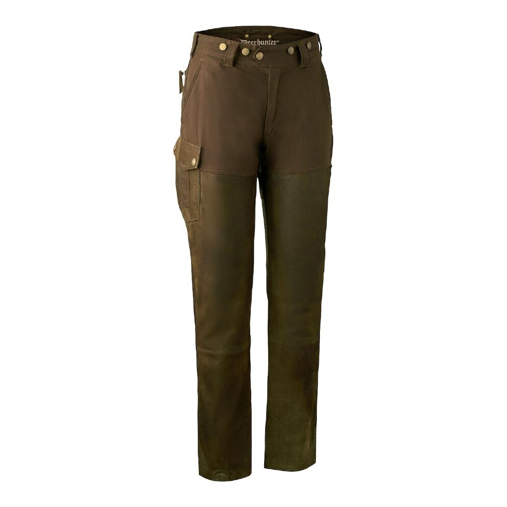 Deerhunter Lady Paris Leather Trousers Walnut-1