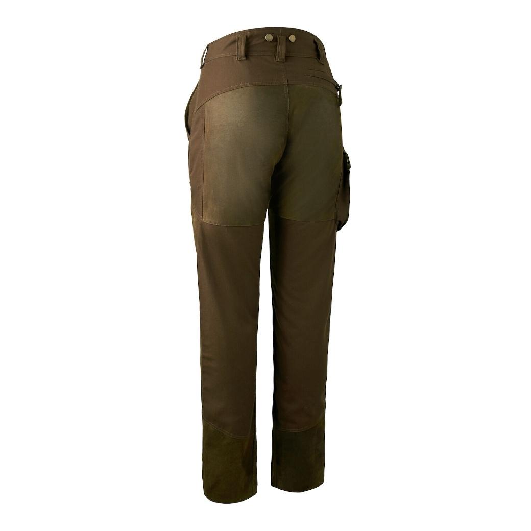 Deerhunter Lady Paris Leather Trousers Walnut-2
