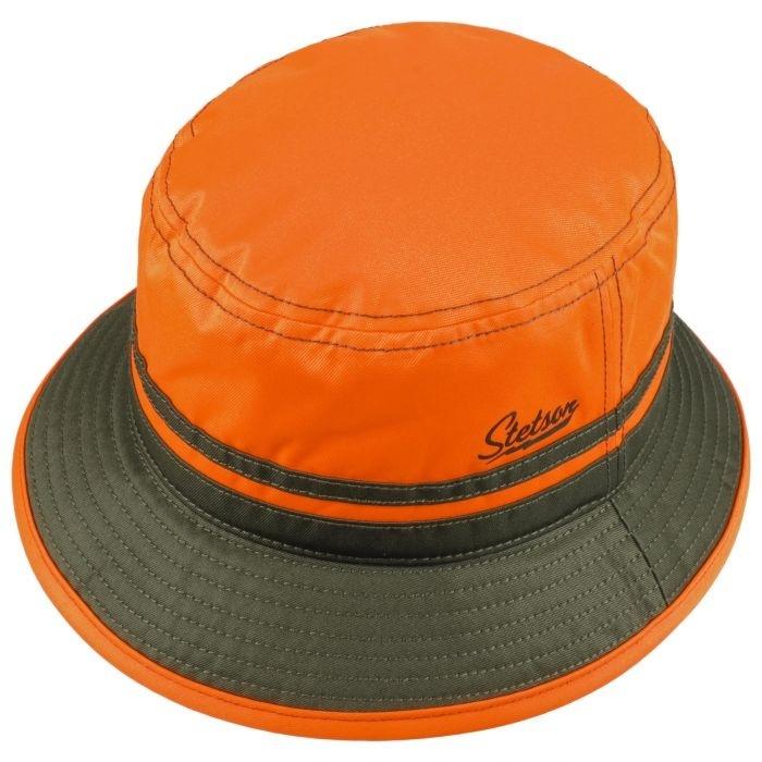 Stetson Bucket Orange Blaze Green-2