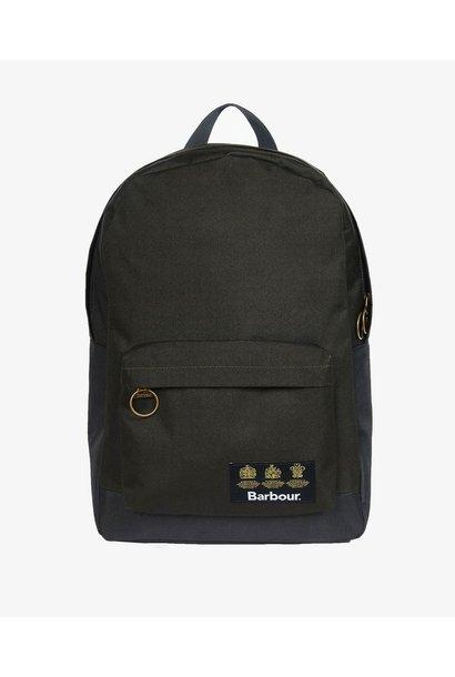 Barbour Highfield Canvas Backpack  Navy/Olive